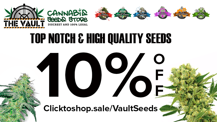 The Vault Cannabis Seeds Store Coupon Code Online Discount Save On Cannabis