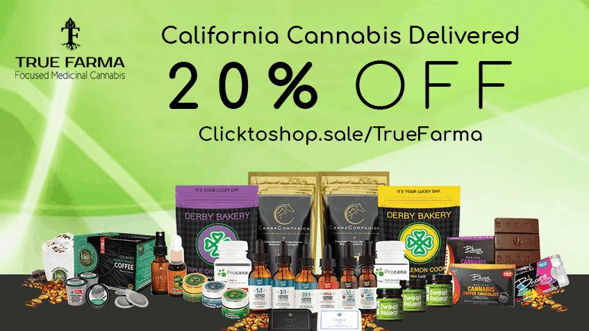 TrueFarma Coupon Code discounts promos save on cannabis online Website 20