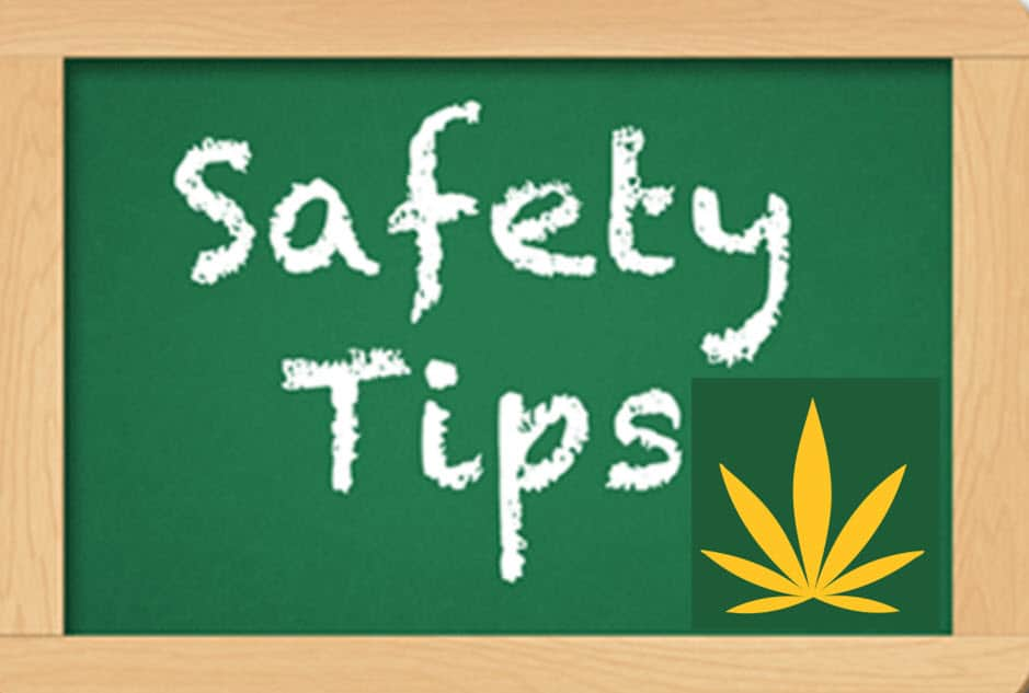 safey tips written on chalkboard