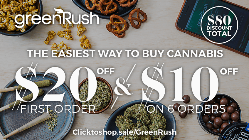 GreenRush Coupon Codes - Marijuana Delivery - Cannabis Online Coupon Codes - California - Colorado - Oregon - Nevada - Save On Cannabis Promos
