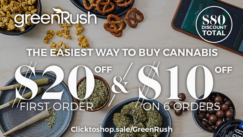 GreenRush Coupon Codes - Marijuana Delivery - Cannabis Online Coupon Codes - California - Colorado - Oregon - Nevada - Save On Cannabis Promos