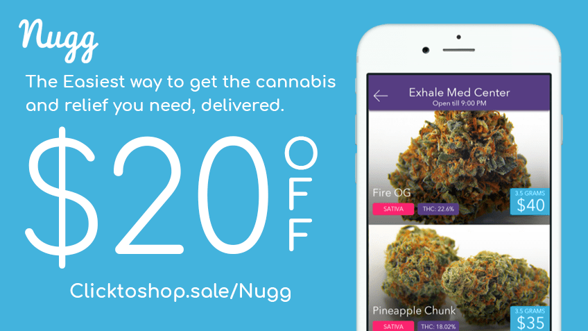 Get Nugg coupon codes for cannabis delivery - eaze.