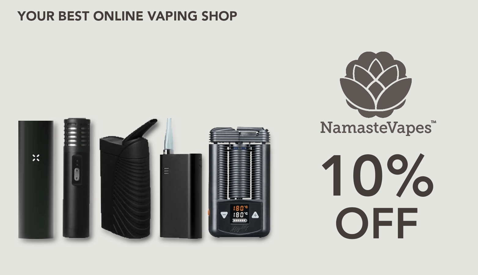 Namaste Vapes CBD Coupon Code discounts promos save on cannabis online Website