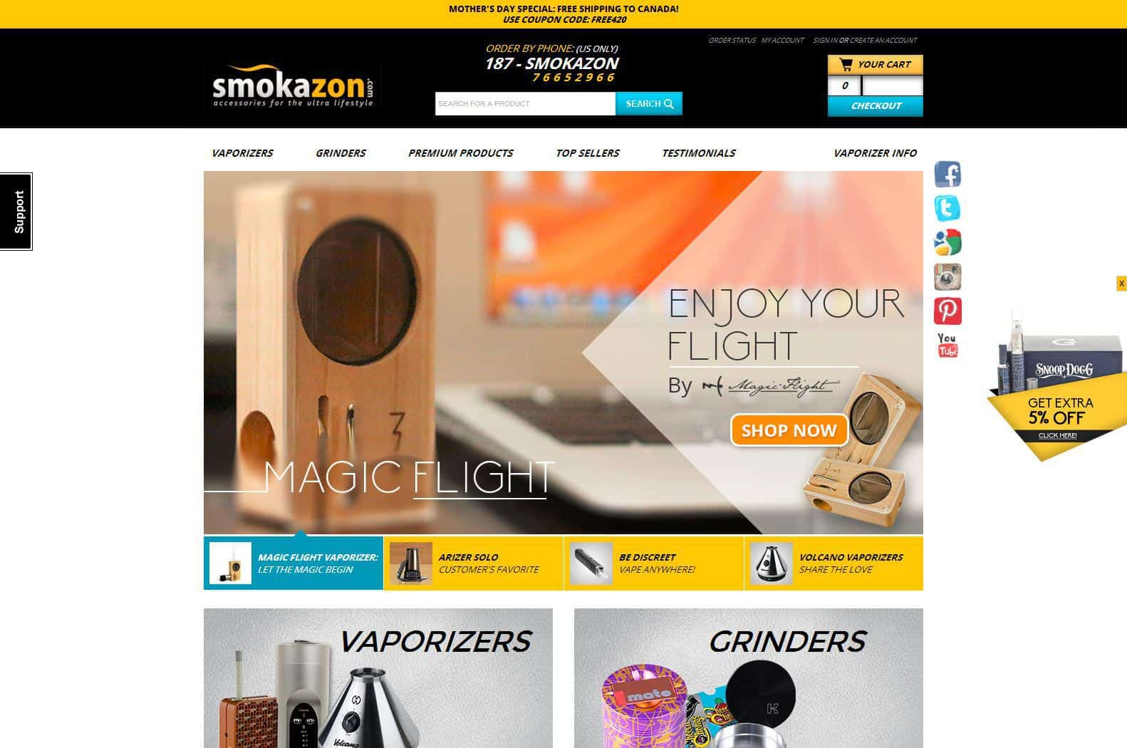Smokazon - Online Vape Shop - Save On Cannabis Coupon Codes - Vaporizers