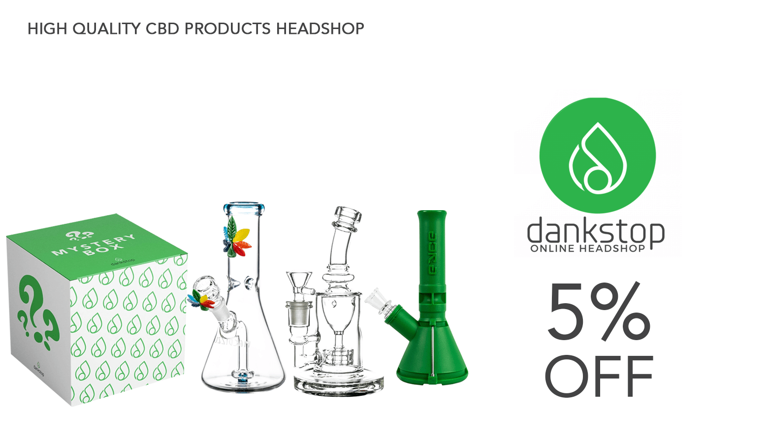 Dankstop CBD Coupon Code Website Redesign