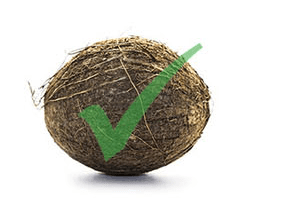 yes coconut with green check mark