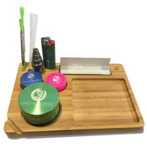 Green Goddess Supply CBD Coupon Bamboo Rolling Tray