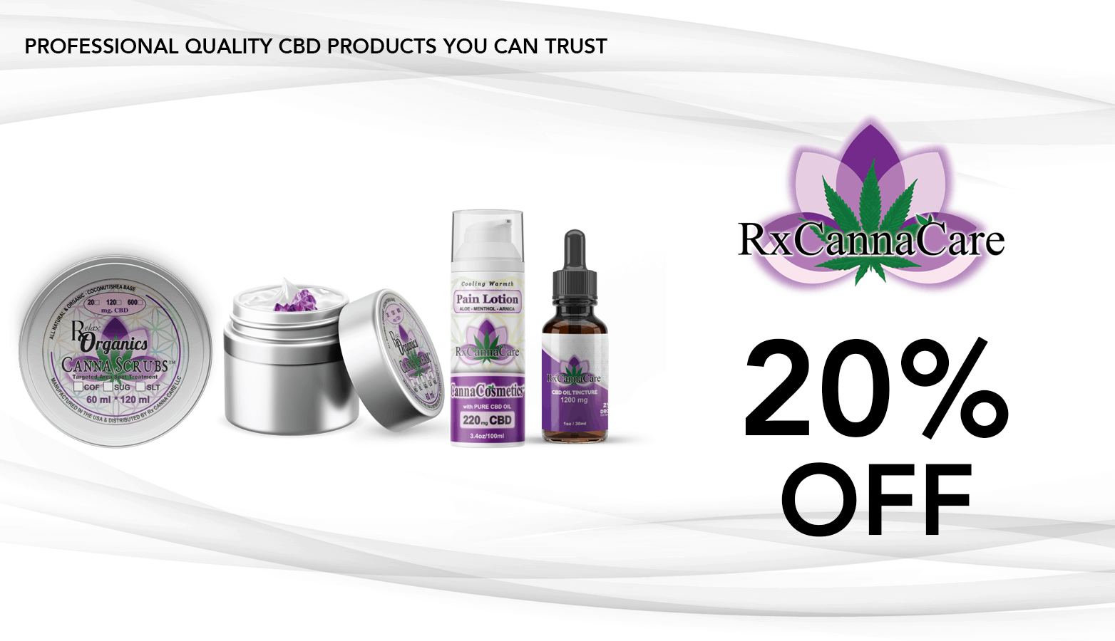 RxCannaCare CBD Coupon Code discounts promos save on cannabis online Website redesign
