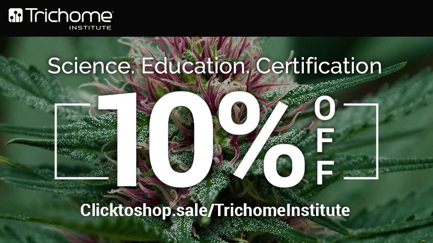 Trichome Institute Discount Coupon Promo Certificate Website