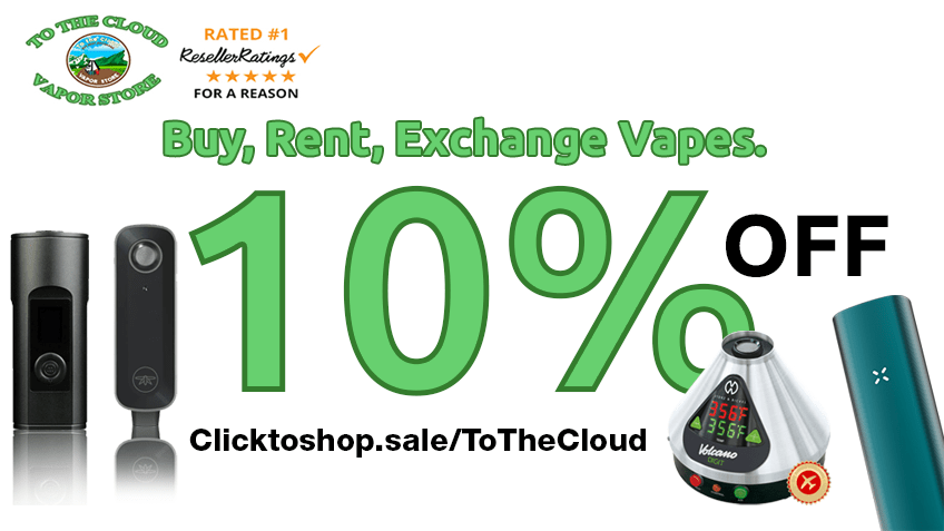To The Cloud Vapor Store Coupon Promo Certificate Website