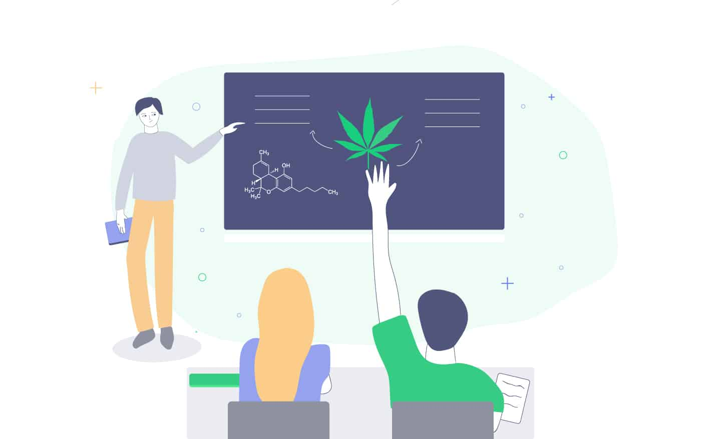 Learn about cannabis online at college.