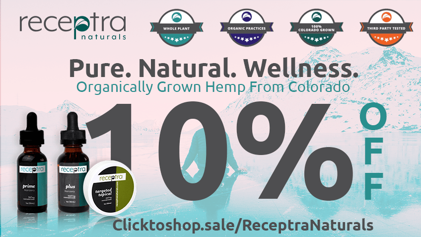 Receptra Naturals Discount Coupon Promo Certificate Website