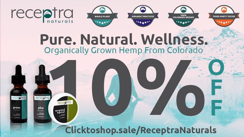 Receptra Naturals Discount Coupon Promo Certificate Website