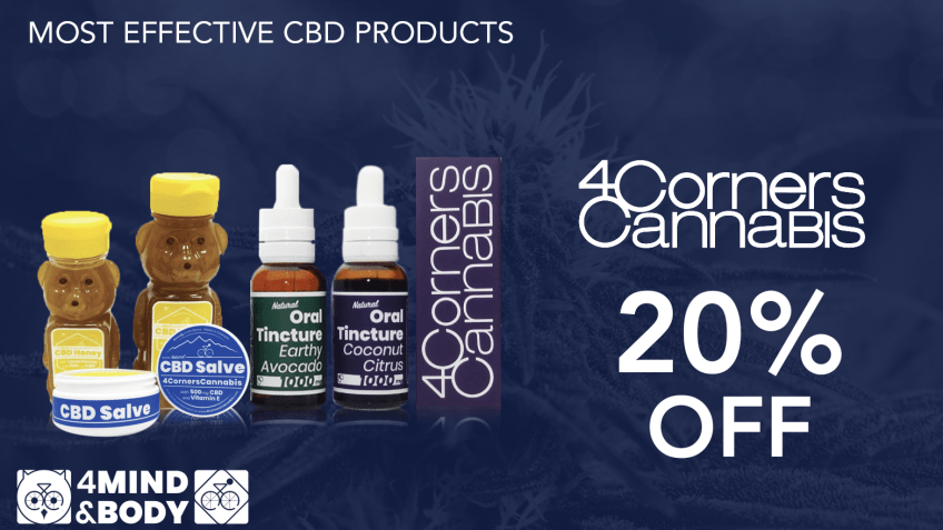 Get 4 Corners Cannabis coupon codes here for premium CBD online!