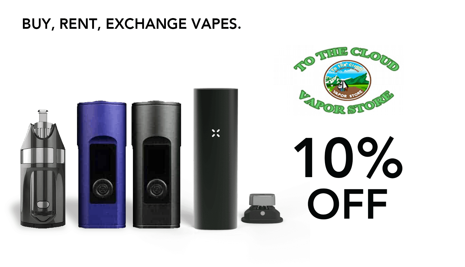 To The Cloud Vapor Store Coupon Promo Certificate Website Redesign