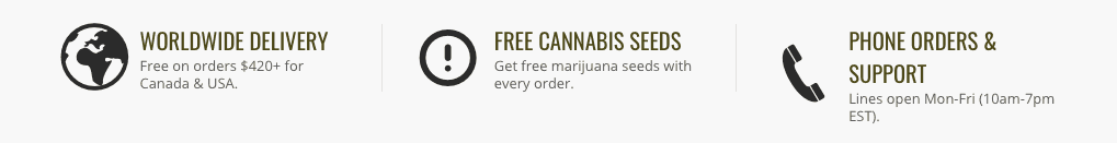 True North Seed Bank coupon site features.