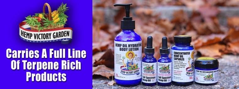 Hemp Victory Garden CBD Coupons Terpene Rich Products