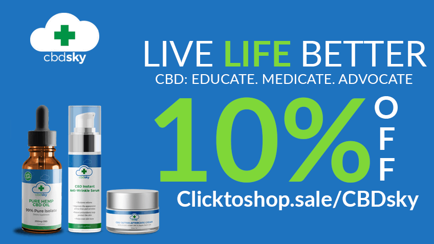 Save money now with CBD Sky coupon codes!