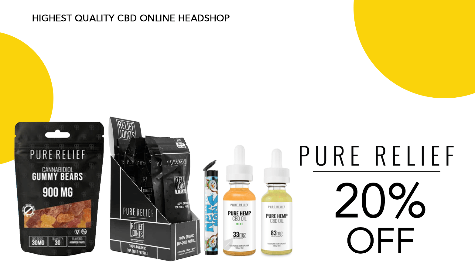 Pure Relief CBD Coupon Code 20 Percent Offer Website
