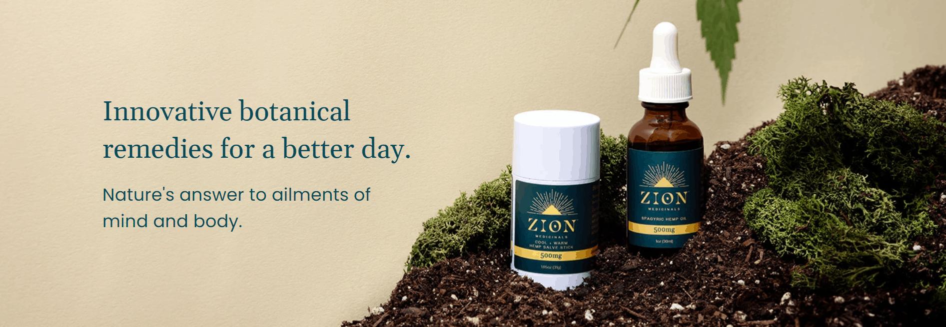 Zion Medicinals CBD Coupons Innovative Remedy