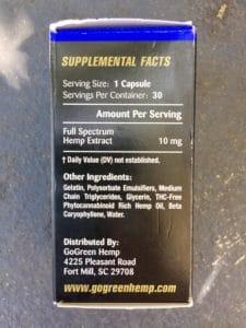 GoGreen Hemp Gel Capsules Review - Ingredients - Coupon