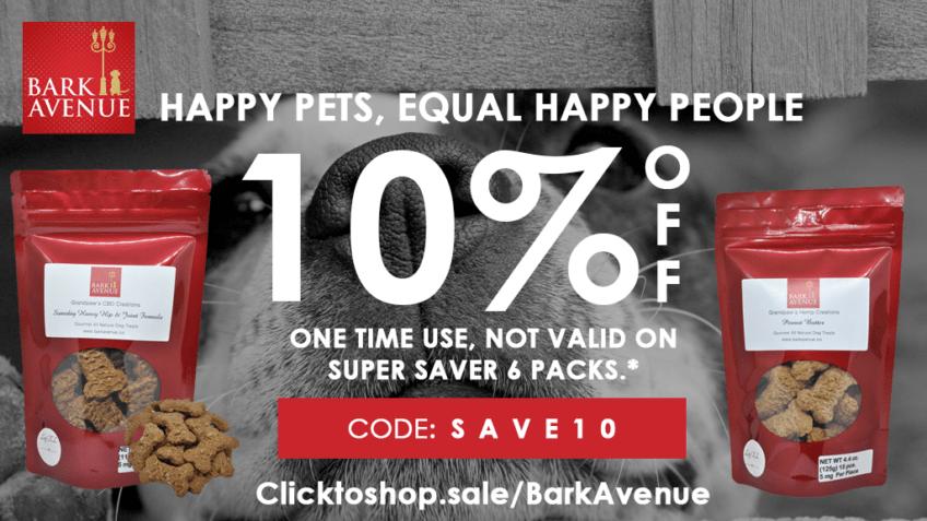 Get Bark Avenue coupon codes for CBD dog treats