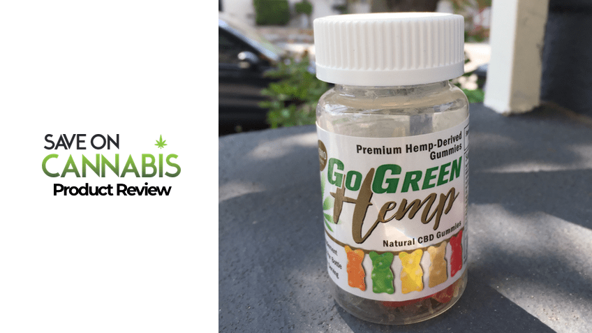 Go Green Hemp CBD Gummy Bears Review - Save On Cannabis