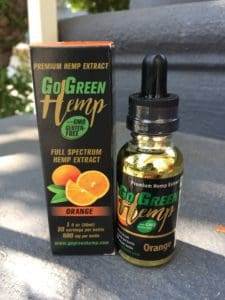 GoGreen Hemp Orange Oil Drops