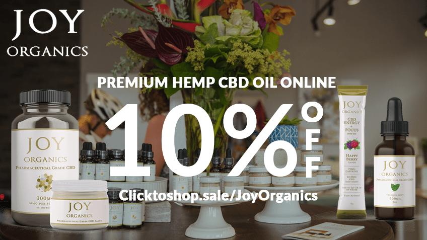 Joy Organics Coupon Code Online Discount Save On Cannabis