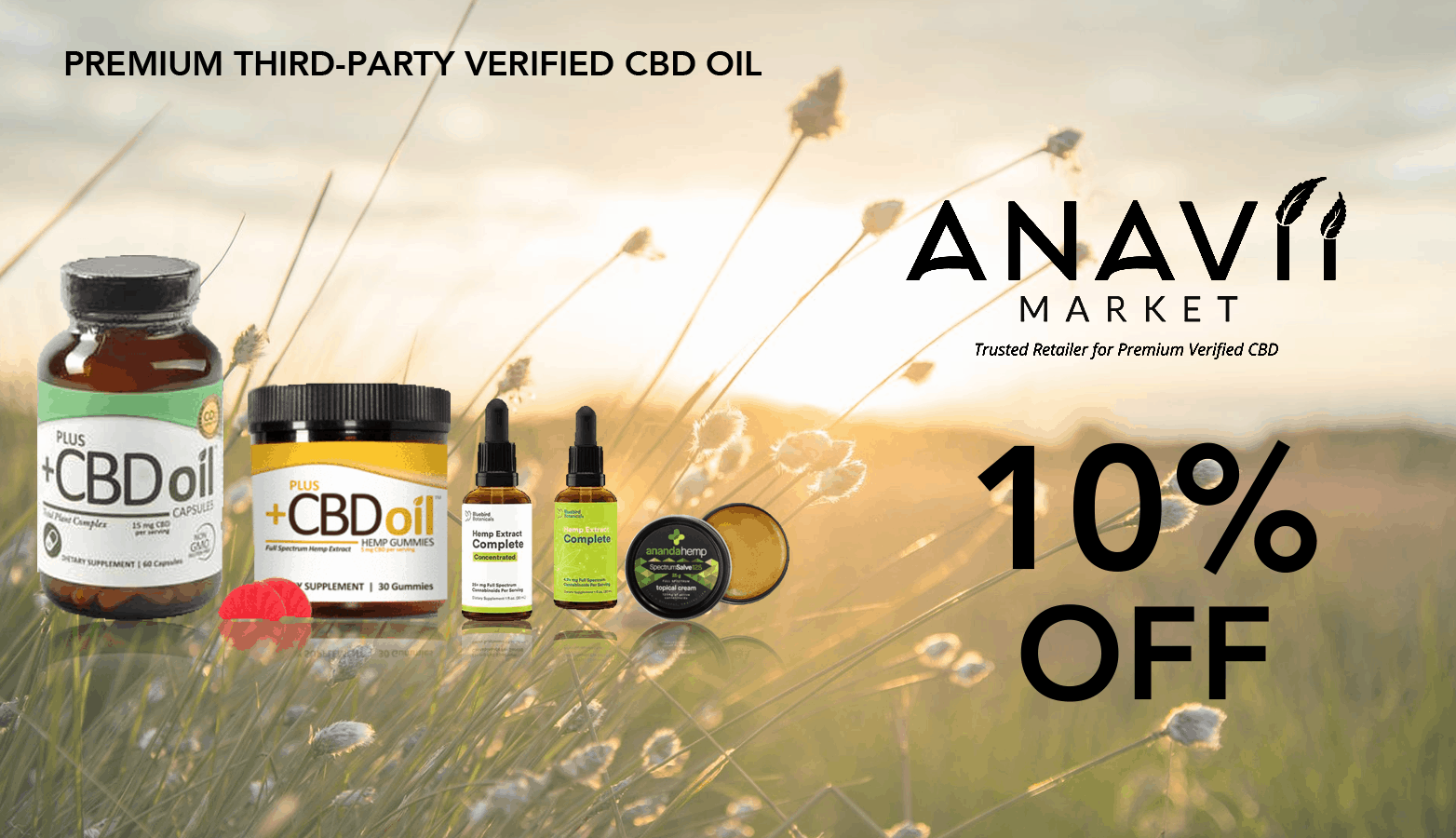 Anavii Market CBD Coupon Code discounts promos save on cannabis online Website Redesign