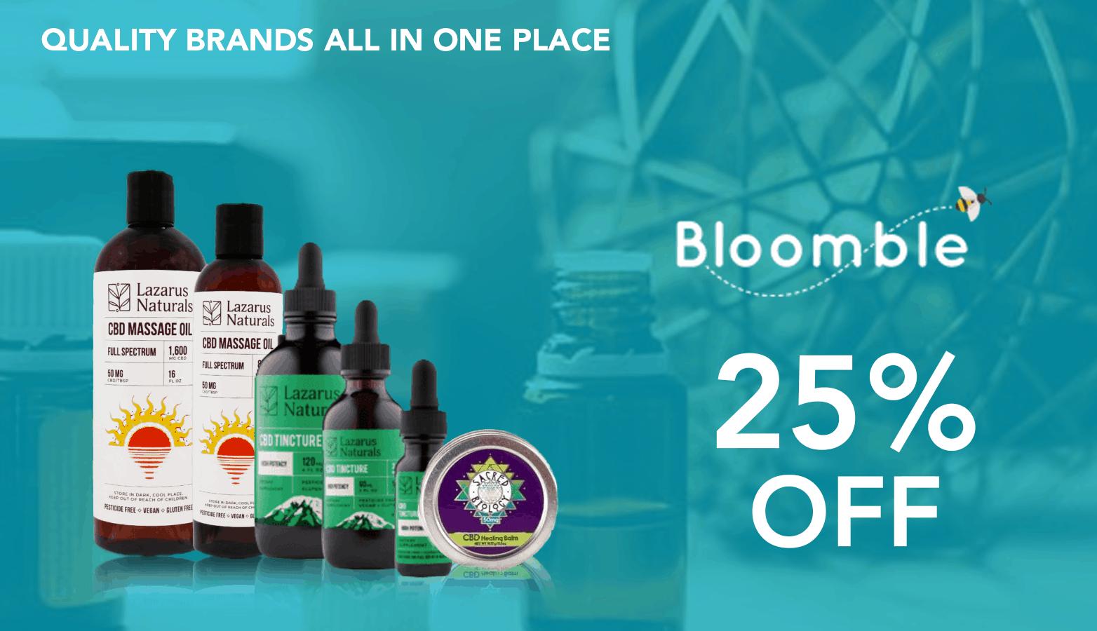 Bloomble CBD Coupon Code 25 Percent Offer Website