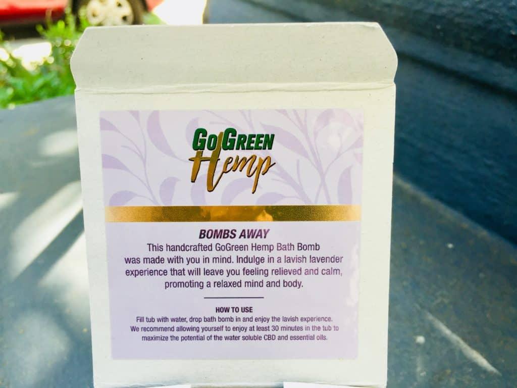 GoGreen Hemp Review - Bath Bomb - Lavender - Save On Cannabis