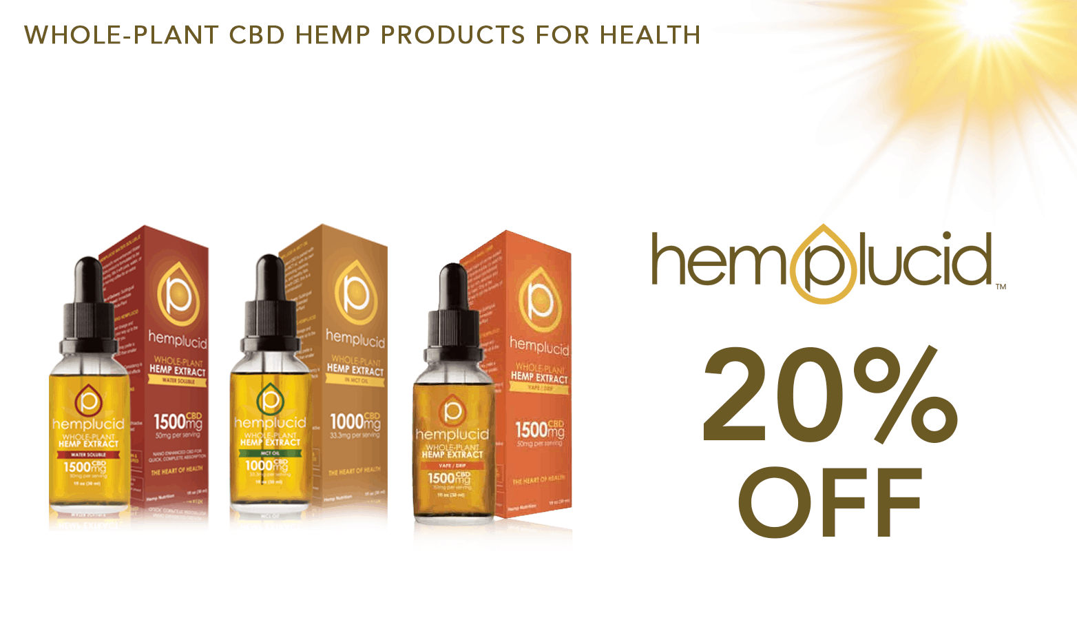 Hemplucid Coupon CBD Coupon Code discounts promos save on cannabis online Website Redesign