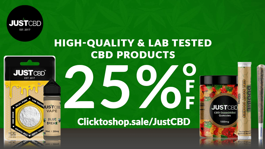 JustCBD Coupon Code Online Discount Save On Cannabis