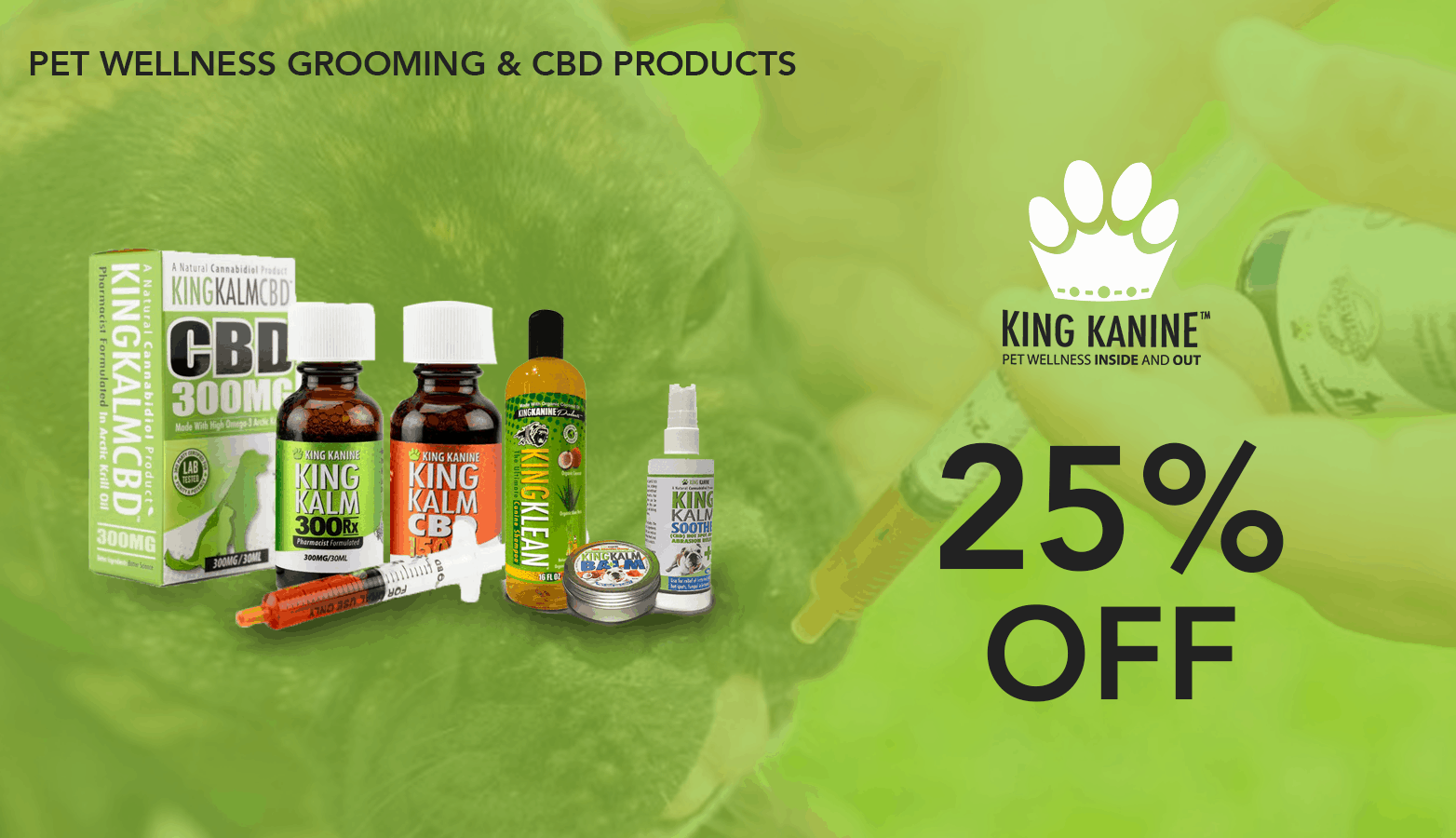 King Kanine CBD Coupon Code discounts promos save on cannabis online Website redesign