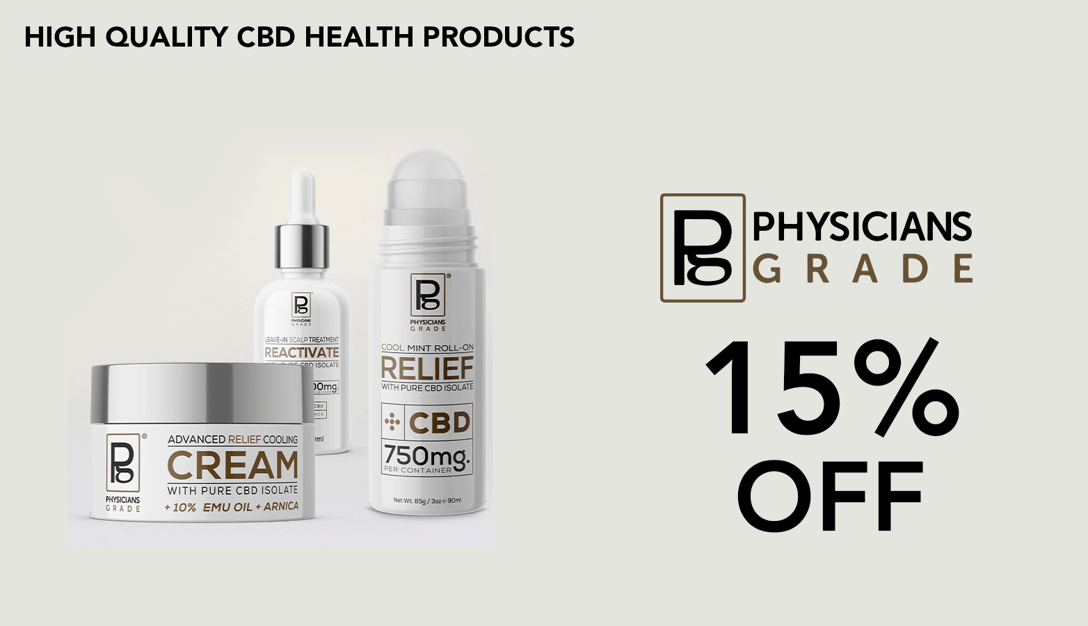 Physicians Grade CBD Coupon Code Online Discount Save On Cannabis website redesign