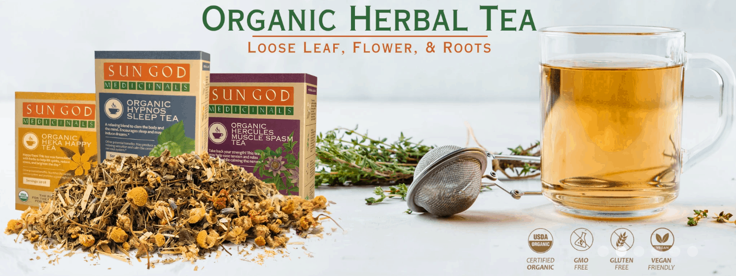 Herbal Tea By Sun God Medicinals CBD