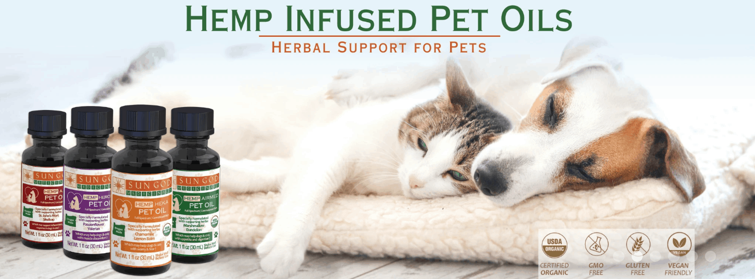 Pet Oils By Sun God Medicinals CBD