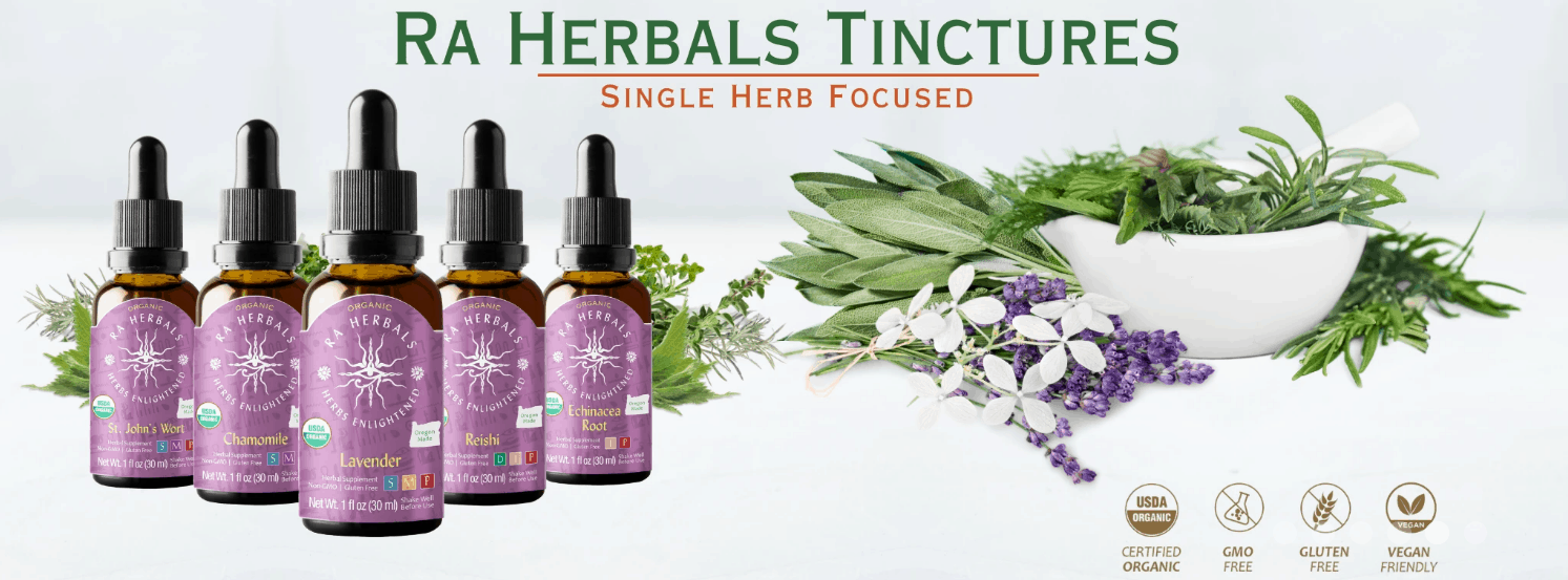 RA Herbal Tinctures BY Sun God Medicinals CBD