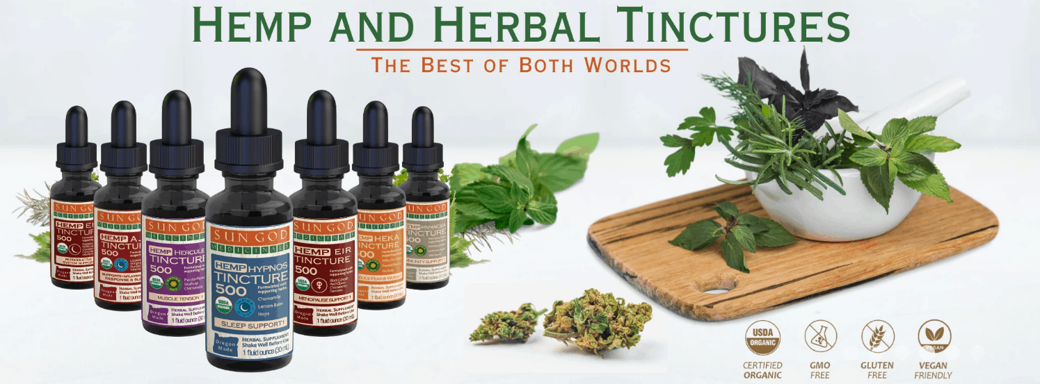 Herbal Tinctures By Sun God Medicinals CBD