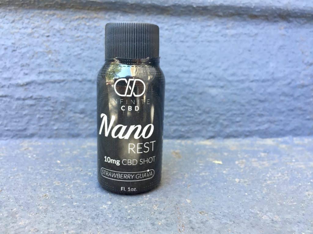 Infinite CBD Review - Nano Rest Shot - Save On Cannabis