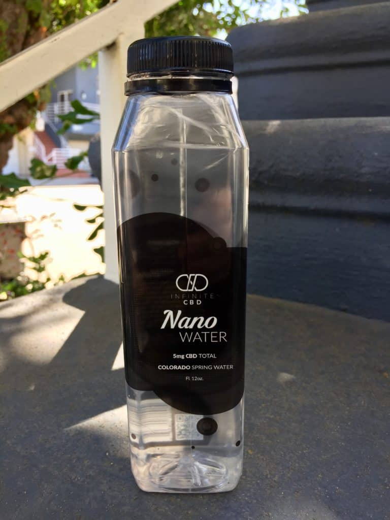 Infinite CBD Review - Nano Water - Product Shot - Save On Cannabis
