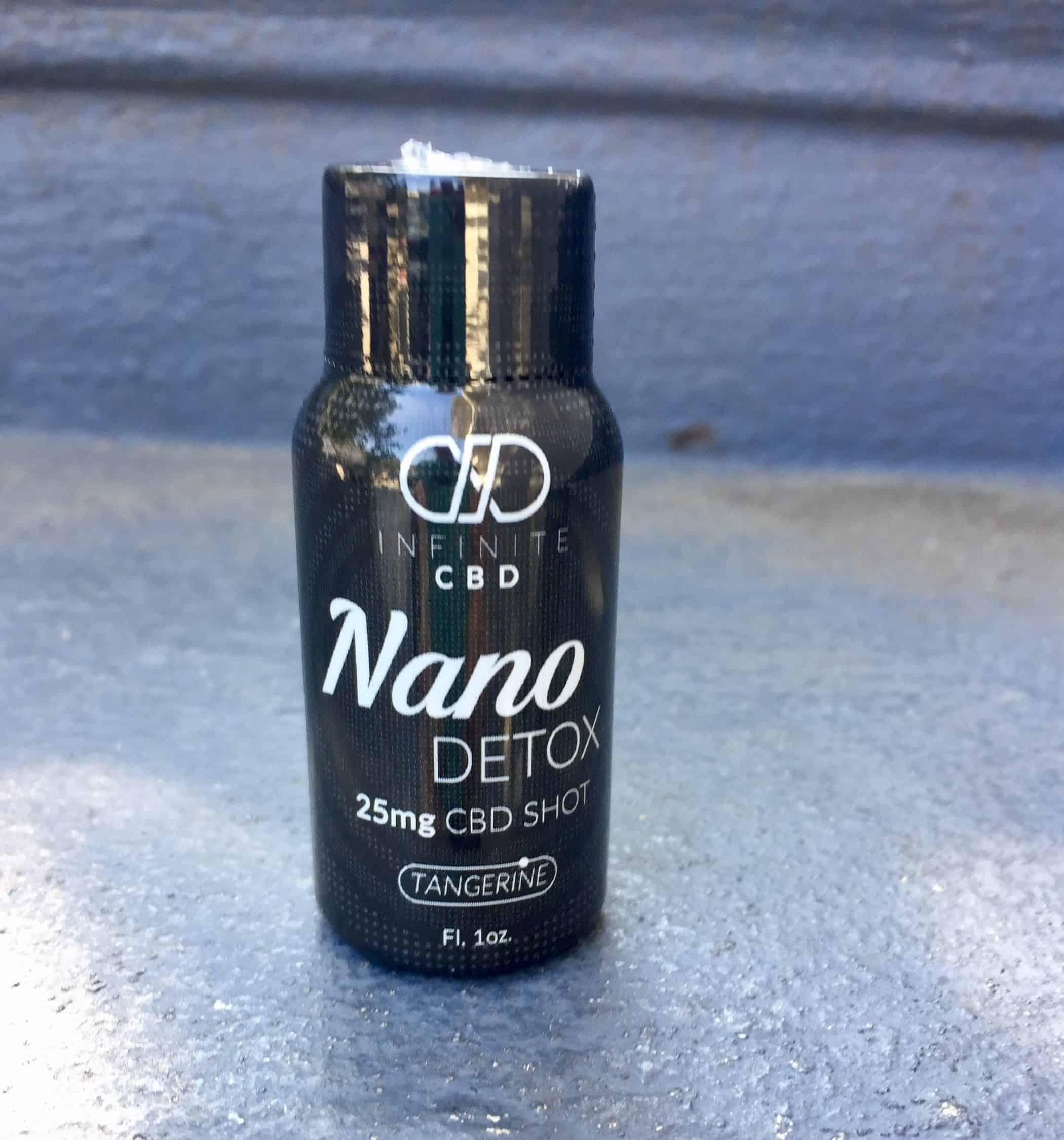 Infinite CBD Review - Save On Cannabis - Nano Shot Detox - Beauty Shot