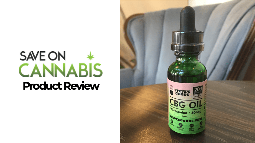 Steve's Goods Review - CBD & CBG Oil Tincture - Save On Cannabis - Featured
