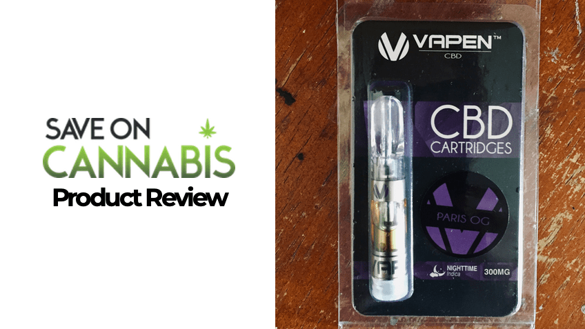 Vapen CBD Review - Paris OG - Save On Cannabis - Featured