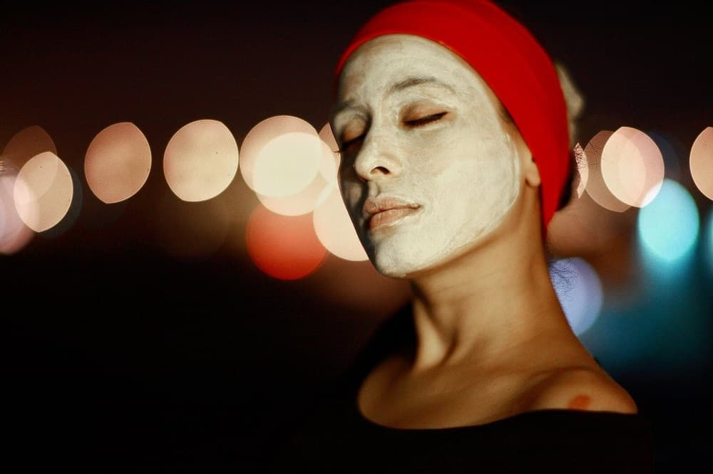 CBD night face mask