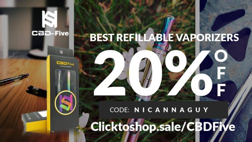 CBDFive Vapes Coupon Code Online Discount Save On Cannabis