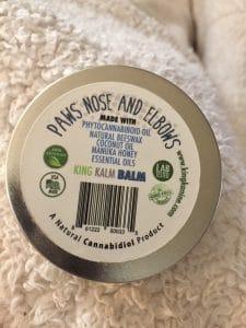 King Kalm Balm Review - CBD Pet Product - Save On Cannabis - Back