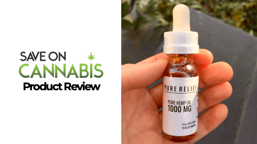 Pure Relief Review - CBD Tincture - Save On Cannabis - FEATURED IMAGE