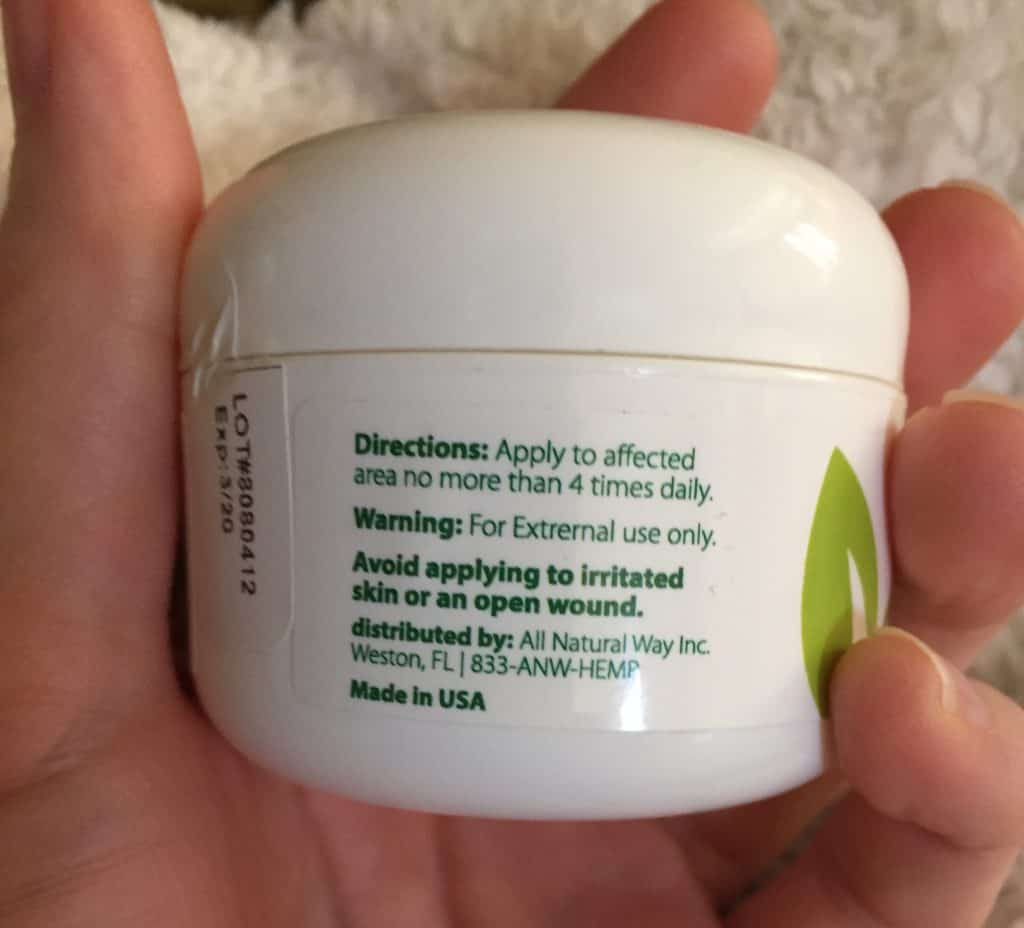 All Natural Way CBD Review - Save On Cannabis - Pain Relief Cream - Directions